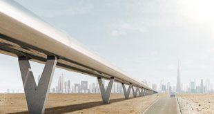 قطار هايبرلوب 1 مستقبل النقل العالمي بدبي