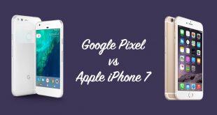 مقارنة جوجل بكسل pixel وايفون 7 iphone من الافضل ؟