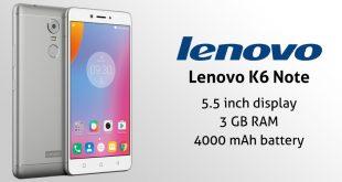 سعر ومميزات وعيوب Lenovo k6 Note