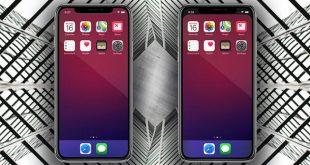 شرح طريقة إخفاء حافة الأيفون إكس iPhone X من الشاشة