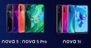 مقارنه بين هواتف هواوي نوفا 5 ونوفا 5 برو ونوفا 5i
